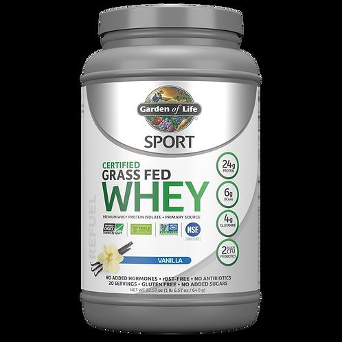 GOL, Sport GrassFed Whey Protein, Vanilla 652 gr
