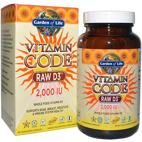 Vitamin Code� - RAW D3�, 2000 IU, 60caps