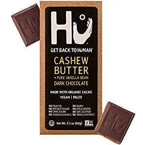Hu Vegan Chocolate Bars Cashew Butter Vanilla Beans Dark 2.1 oz