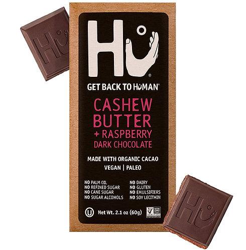 Hu Vegan Chocolate Bars Raspberry Jelly Cashew Butter Dark Chocolate 2.1 oz