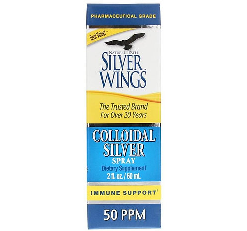 Colloidal Silver 50 PPM, 2oz Spray