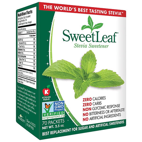 Swett Leaf, Stevia, 70pkts