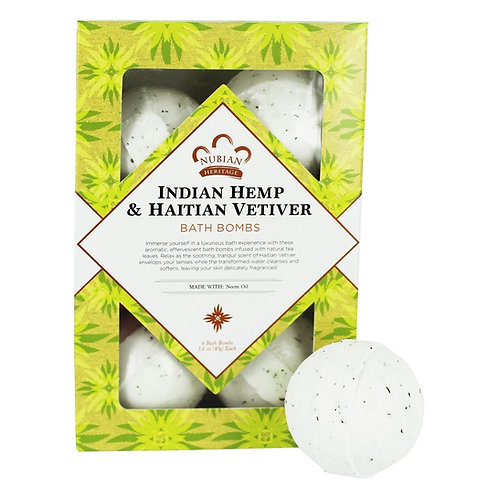 Nubian Heritage, Indian Hemp & Haitian Vetiver Bath Bombs