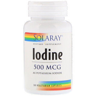 Iodine as Potassium Iodide,500mcg, 30ct