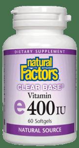 Natural Factor, Clear Base Vitamin E 400IU