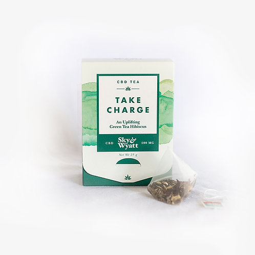 Take Charge CBD Herbal Tea – 10 Sachet Box