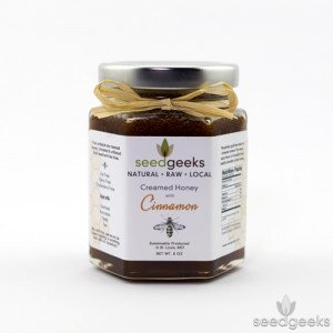 Seed Geeks, Local RAW Creamed Honey Cinnamon
