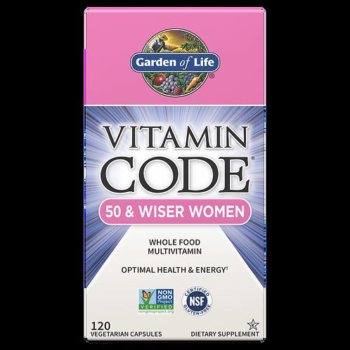 Vitamin Code- 50 & Wiser Women Multi 120 CNT CAP