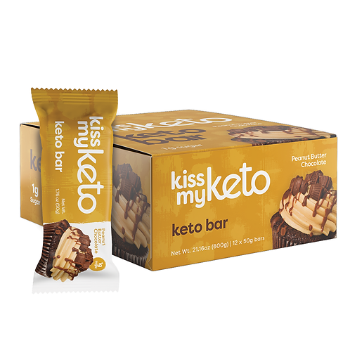 Kiss My Keto Bars Peanut Butter