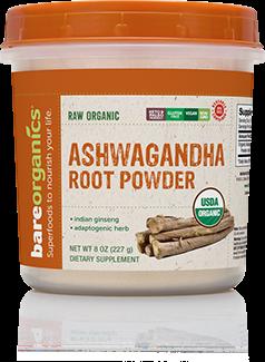 BareOrganics, Ashwagandha Powder 8oz