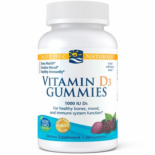 Nordic Naturals, Vitamin D3 Gummies, 120 Cnt.