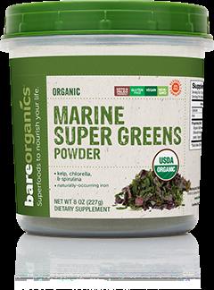 BareOrganics, Marine Super greens Powder 8oz