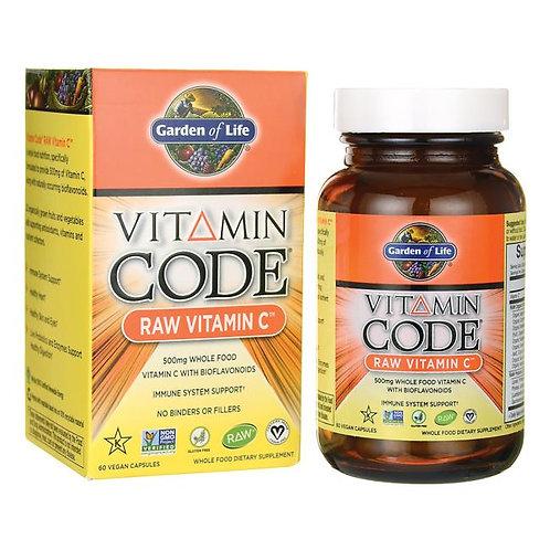 GOL, RAW Vitamin C, 60 Capsules