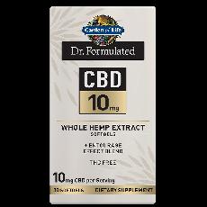 Dr. Formulated CBD 10mg Whole Hemp Extract Softgels 30 Softgels