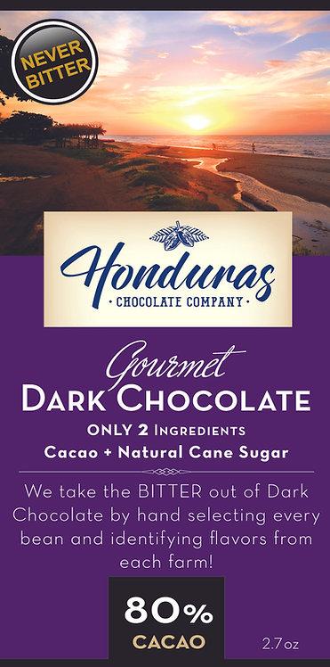 Honduras Chocolate 80% Cacao Extra Dark Chocolate Bar