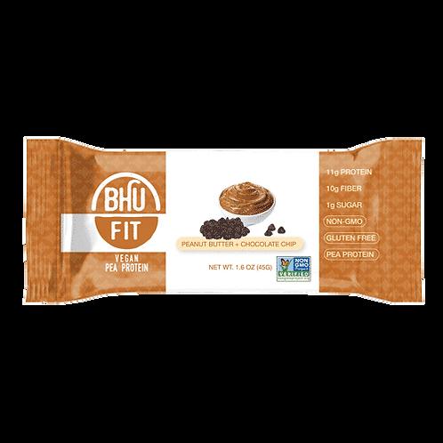BHU Fit Vegan Protein Bar P/B Choc Chips