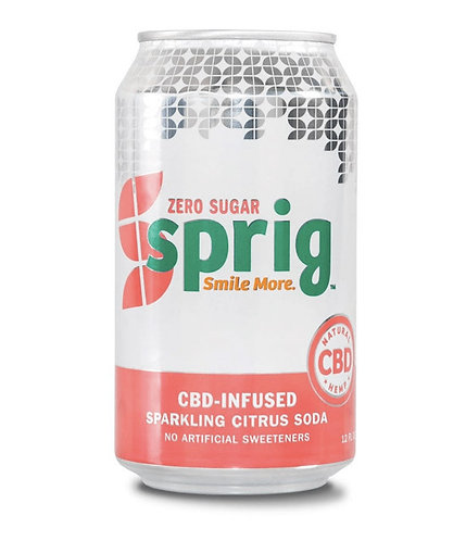 Sprig CBD-Infused Sparkling Beverage – Citrus – Zero Sugar