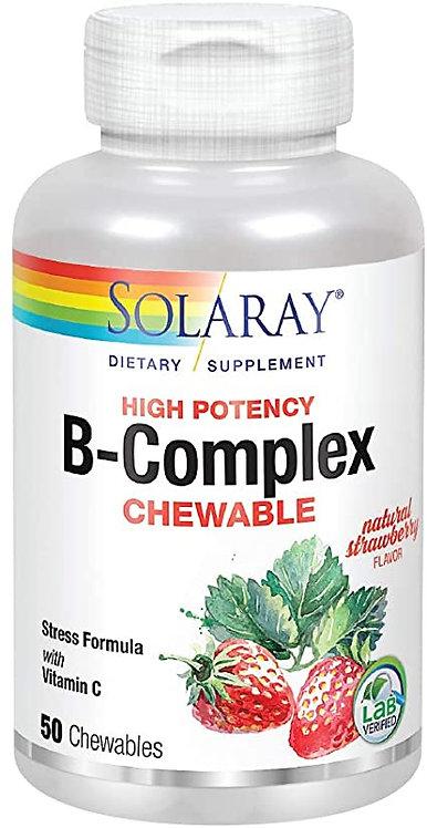 Solaray B Complex Chewable Strawberry 50 Tabs