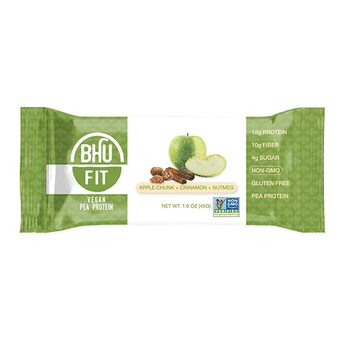 BHU Fit Vegan Protein Bar Apple Chunk Cinnamon Nutmeg