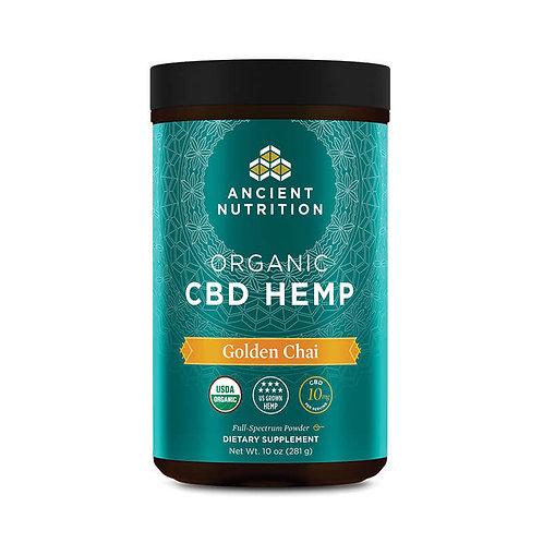 Ancient Nutrition, Organic CBD Hemp Golden Chai Powder – 10mg