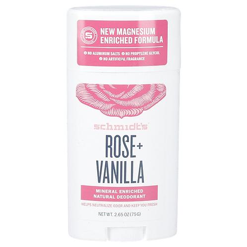 Schmidts Deodorant Stick Rose Vanilla