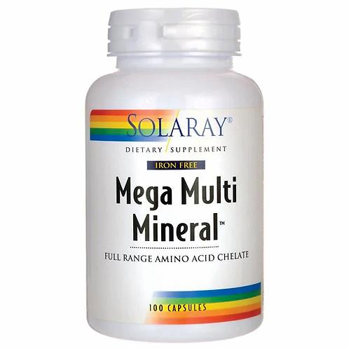 Solaray, Multi Mineral, Mega�, Iron Free,100ct