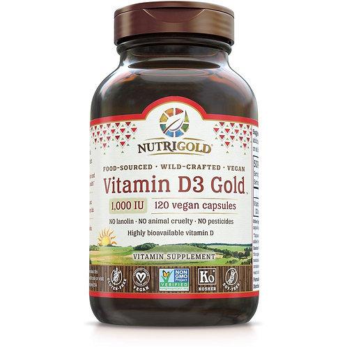 NutriGold, Vitamin D 1000IU 120vcaps