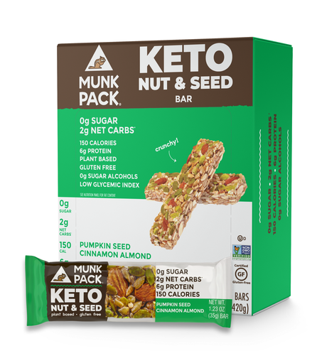 Munk Pack, Pumpkin Seed Cinnamon Almond Keto Nut & Seed Bar