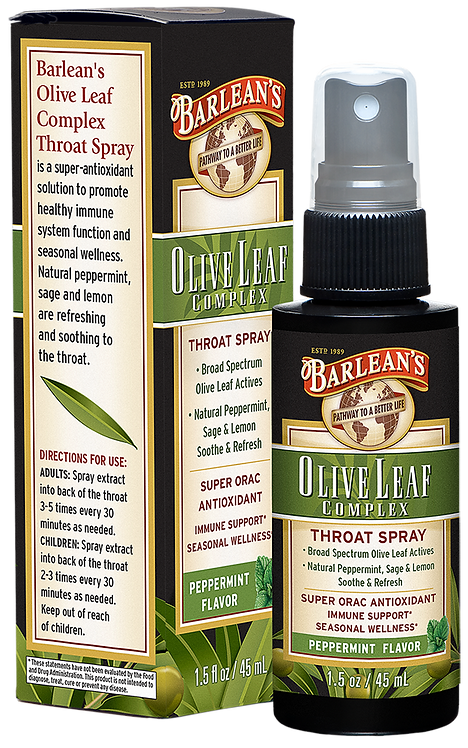Olive Leaf Complex Throat Spray Peppermint 1.5 oz.