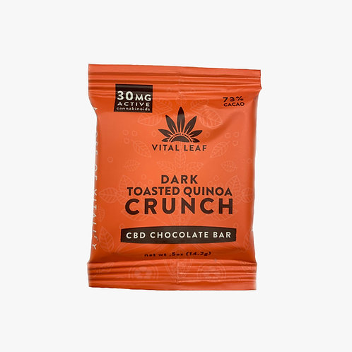 Vital Leaf CBD Dark Chocolate Toasted Quinoa Bar