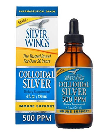 Colloidal Silver 500 PPM, 4oz Dropper