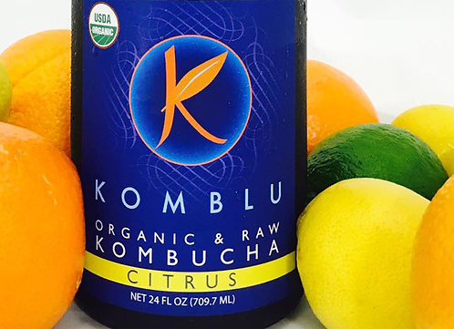 Komblu Kombucha (Citrus, Ginger, Green Pineapple, Mango, Tropical) 24oz
