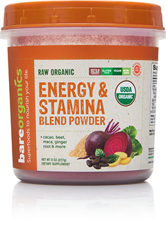BareOrganics, Energy & Stamina Powder 8oz