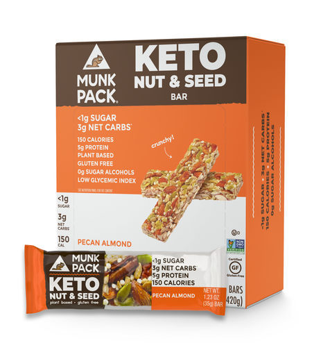 Munk Pack, Pecan Almond Keto Nut & Seed Bar