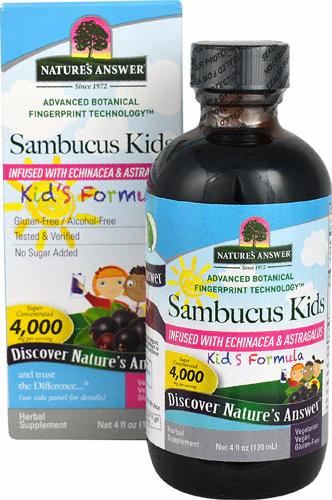 Natures Answere, Sambucus, Kids