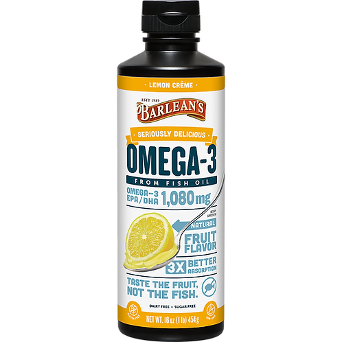 Seriously Delicious™ Omega-3 Fish Oil Lemon Crème 16 oz.