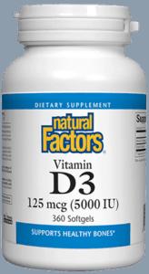 Natural Factors, Vit.D3 5000iu
