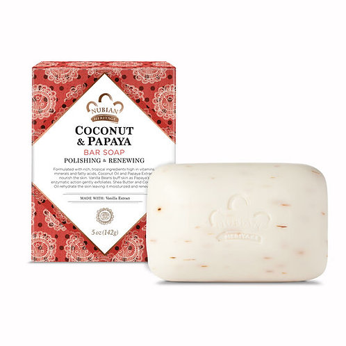Nubian Heritage, Coconut Papaya Soap