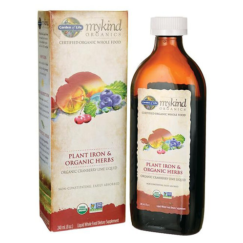myKind Organics Plant Iron & Organic Herbs Cranberry Lime - 8 fl oz (240 ml)
