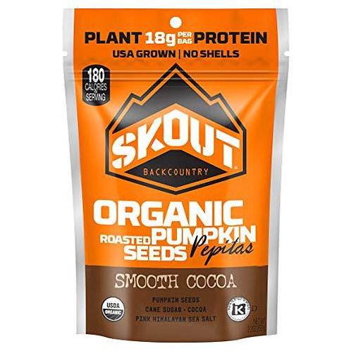 Skout  Org Pumpkin Seeds Smooth Cocao