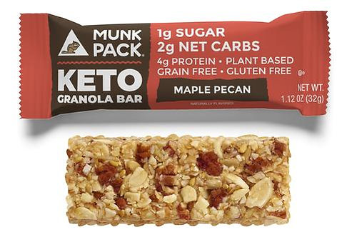 Munk Pack, Maple Pecan Keto Granola Bar, 6-Pack