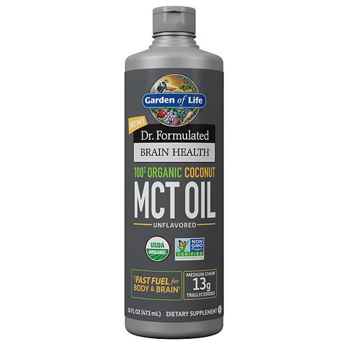 Dr Formulated Brain Health, MCT Oil Org, 16oz