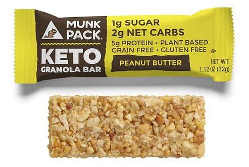 Munk Pack, Peanut Butter Keto Granola Bar, 6-Pack