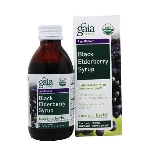 Gaia Herbs, Black Elderberry Syrup 3.5oz