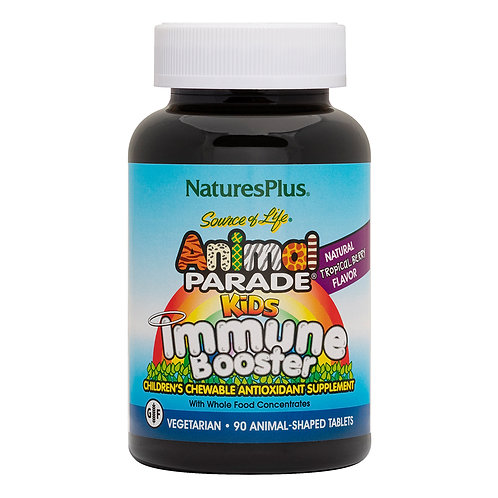 Animal Parade Kids Immune Booster Chewable - Tropical Berry Flavor