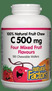 Natural Factors, 500 Vitamin C 180 Wafers