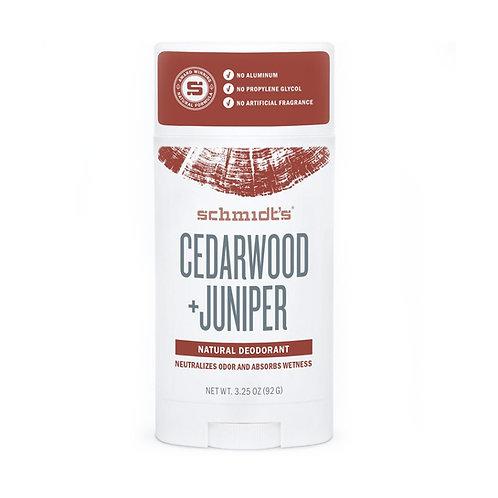 Schmidts Deodorant Stick Cedarwood Juniper