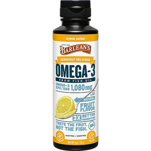 Seriously Delicious™ Omega-3 Fish Oil Lemon Crème 8 oz.