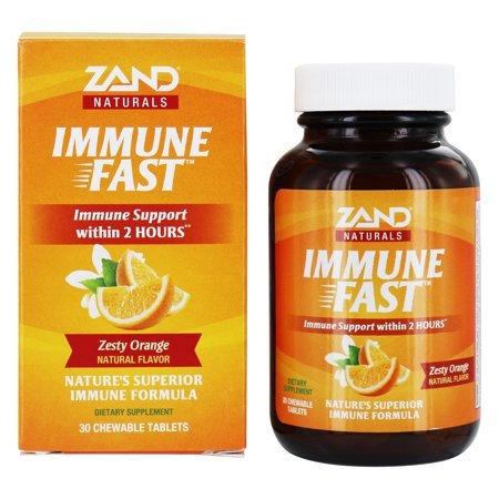 Zand Immune Fast Chews Zesty Ornage 30 tablets