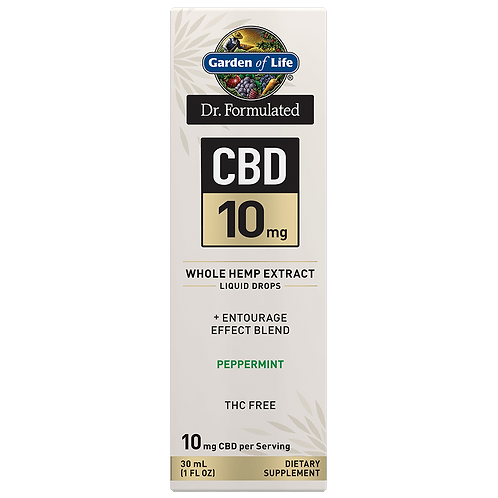 Dr. Formulated CBD 10mg Whole Hemp Extract Liquid Drops Peppermint - 30mL (1 FL
